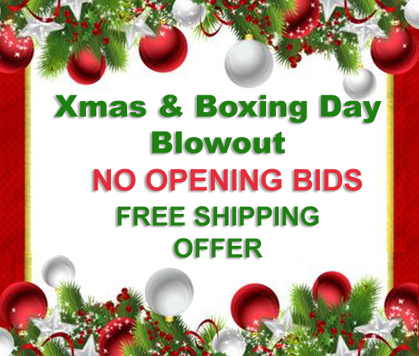 ONLINE AUCTION - XMAS & BOXING DAY